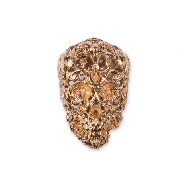 The Gold Filigree Skull 1